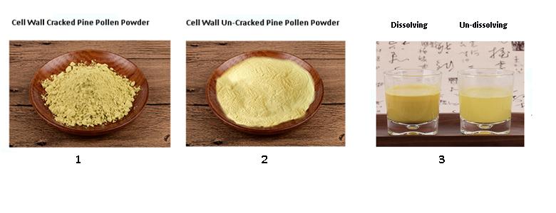 pine pollen powder comperison